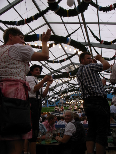 Oktoberfest: Dancing on the tables